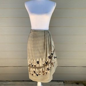 Austin Reed Skirts - Austin Reed Brogue Shoe Pencil Silk Skirt